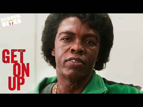 """Get On Up   """"You Took A Brick In My Bathroom""""   Chadwick Boseman as James Brown"""