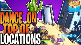 """""""Dance On Top Of"""" Challenge - Fortnite Crown Of RV's, Metal Turtle And Submarine Locations"""