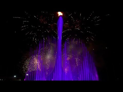 SOCHI CAULDRON LIGHTING WET FOUNTAIN & FIREWORK SHOW