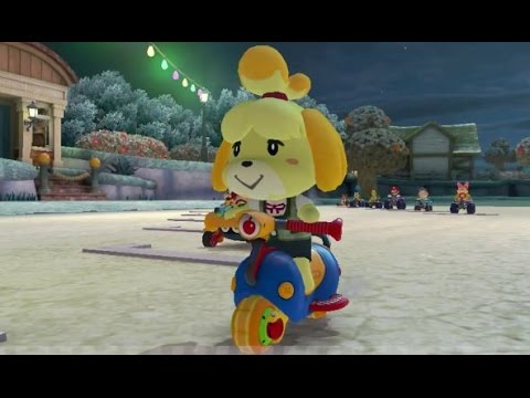 Mario Kart 8 (DLC) - 200cc Crossing Cup (3 Star Ranking) - Isabelle Gameplay