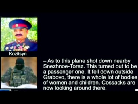 PROOF PRO-RUSSIAN Separatists SHUT DOWN Boeing 777 Malaysia Airlines MH17 in UKRAINE near Donetsk