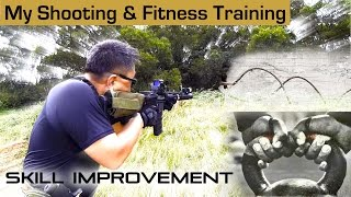 Airsoft shooting & fitness training