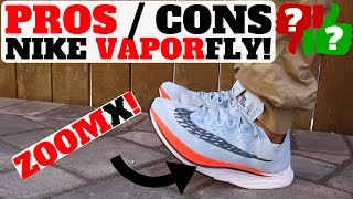 PROS AND CONS NIKE ZOOM VAPORFLY 4% w ZOOMX! (COMPARED TO BOOST | ZOOM FLY | VAPORMAX)