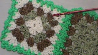 "How to Join a Granny Square using the ""Flat Braid Join"""