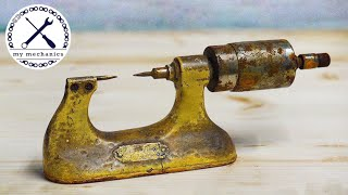 Antique Rusty Micrometer - Precise Restoration