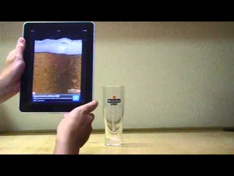 Cerveja real com o Ipad / Real beer with the Ipad