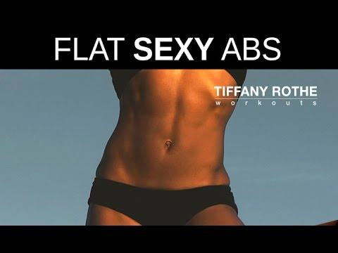 Get flat, sexy abs  with Tiffany Rothe Workouts 5 minute routine