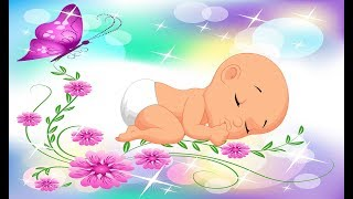 BABY LULLABY and Relaxing Butterflies Animation ?? SLEEP Blue Screen