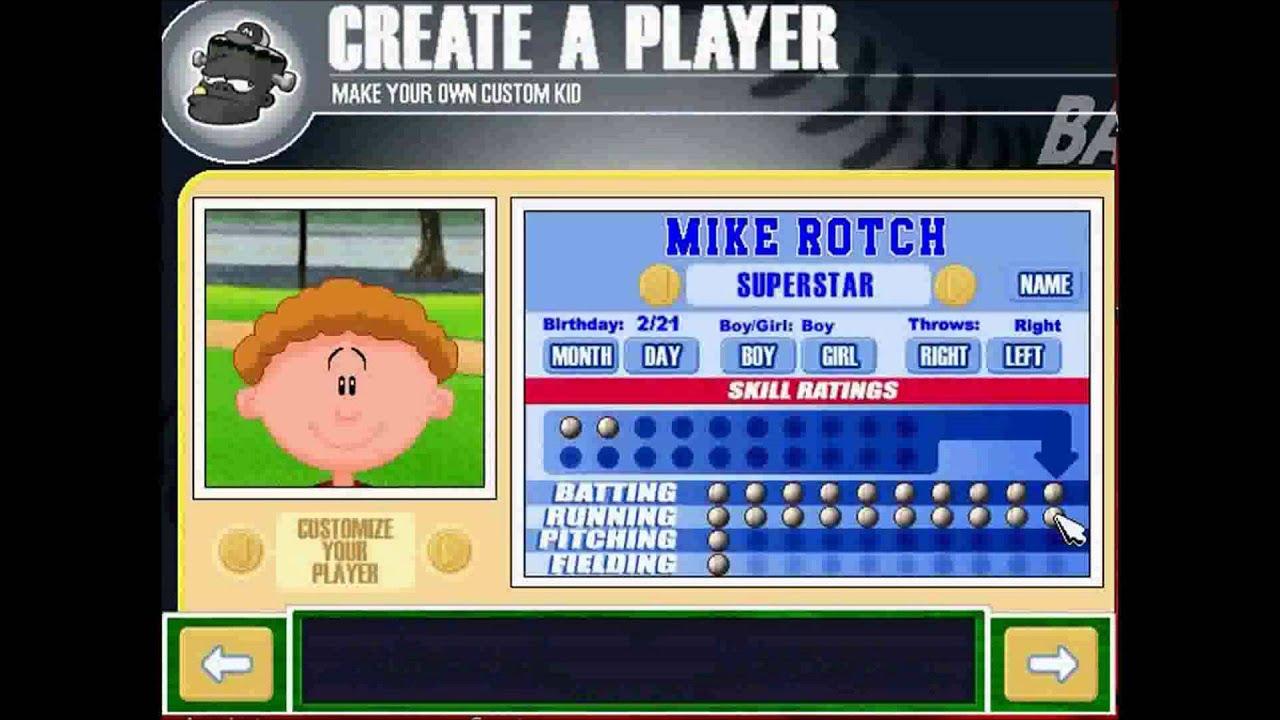 let 39 s play backyard baseball 2003 part 1 the creation youtube