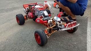 Xe điều khiển 2 thì chạy xăng 95 tốc độ cao 100 km/h