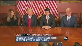 President-elect Trump meets with Speaker Ryan at the Capitol