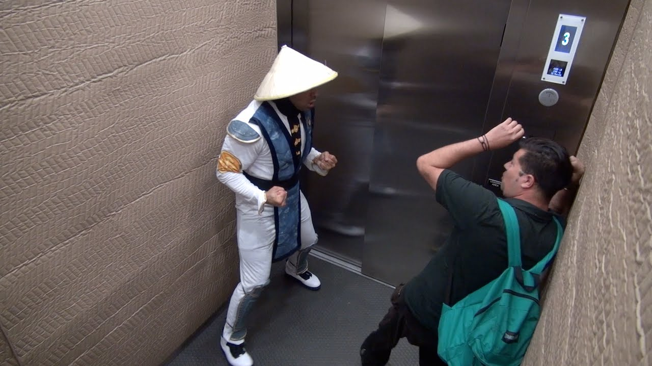 Mortal Kombat Elevator Prank Part 2!