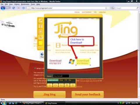 The Jing project- a free screen capture program.