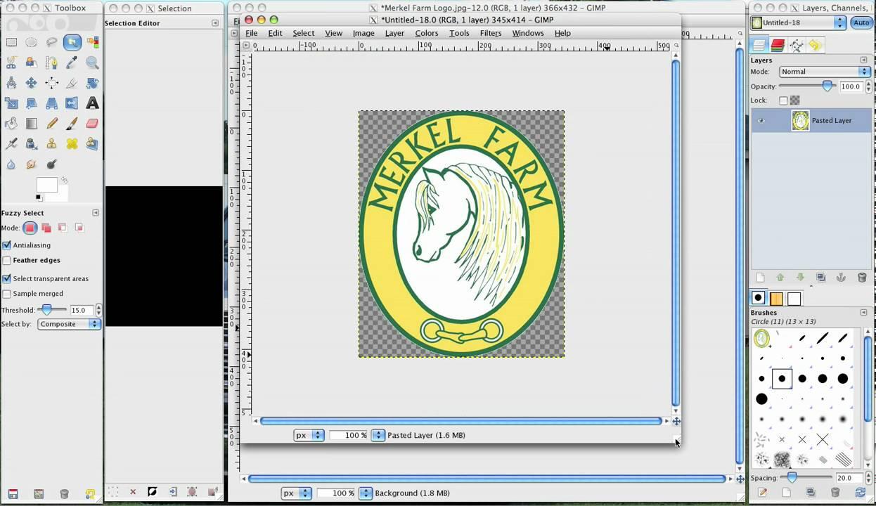 GIMP  Simple Floating Logo