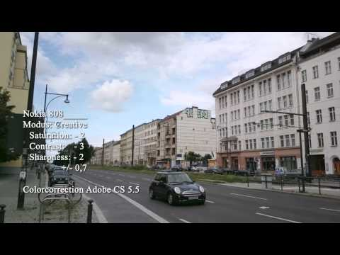 NOKIA 808 pureview - testing VIDEO Camera Settings for nice look