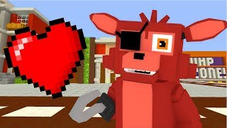 Minecraft Fnaf: FOXY WANTS TO GO ON A DATE WiTH MANGLE?! (Minecraft Roleplay)