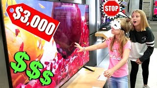 BUYING MY SISTER EVERYTHING SHE TOUCHES BLINDFOLDED!!!