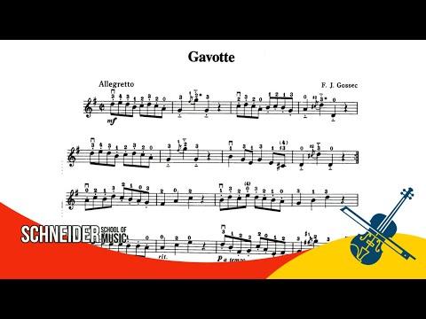 17 - Gavotte,  F. J.  GOSSEC - Suzuki Vol 1 - Violino / Tutorial