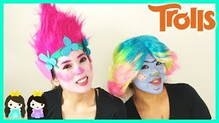 DIY Halloween Costume Makeup Tutorial: Trolls Poppy Makeover with Princess ToysReview
