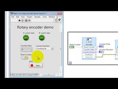 "NI myRIO: ""Rotary Encoder demo"" LabVIEW project"