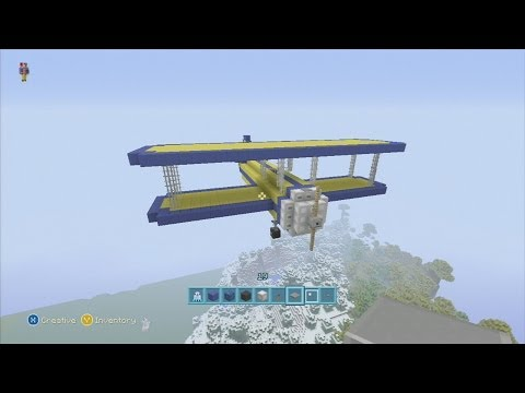 how to make a plane in minecraft that can fly