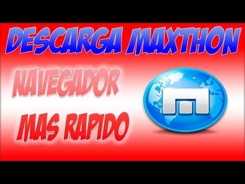 Descargar Maxthon 4.0.3 Navegador mas rapido que Chrome (Sin publicidad)