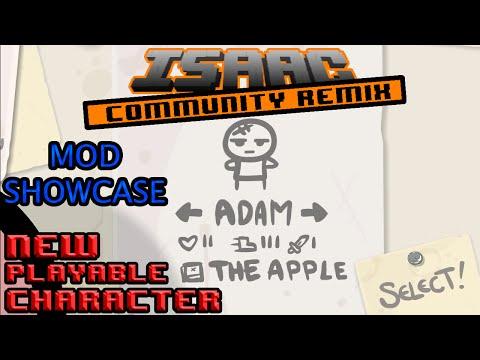 The Binding of Isaac: Community Remix Mod Showcase: New Playable Character! Adam!