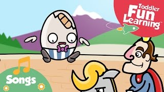 Humpty Dumpty | Nursery Rhyme for Toddlers | Toddler Fun Learning