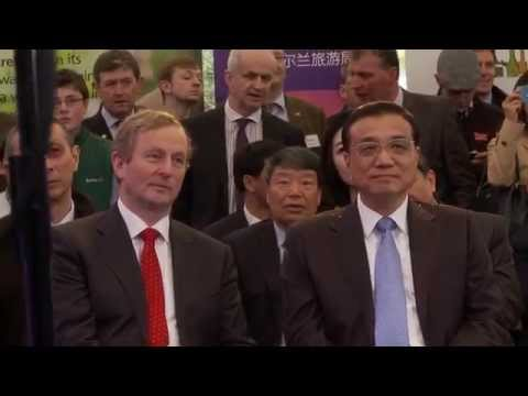 Chinese Premier Li Keqiang's visit to Irish farm in Mayo