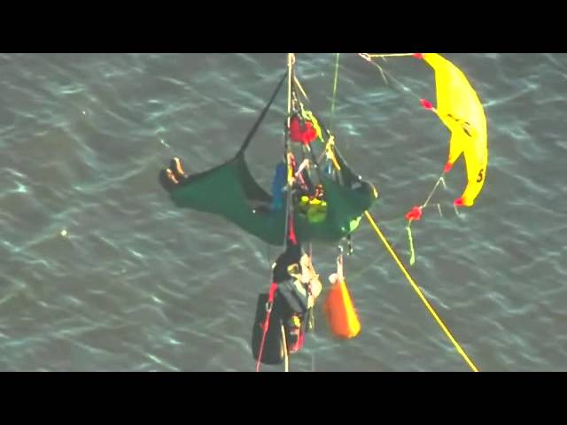 Portland: Protesters dangle from St John's Bridge to protest Shell Arctic drilling plans