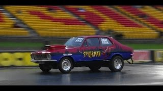 SPIDEY V8 TORANA 10.05 @ 132 MPH SYDNEY DRAGWAY 19.12.2014