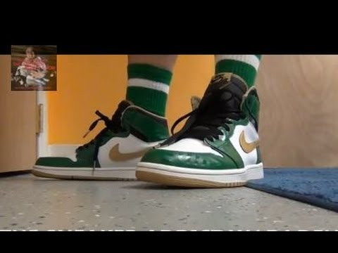 2013 Nike Air Jordan Celtic Clover 1 & Grape V Sneaker Review With @DjDelz + On Feet