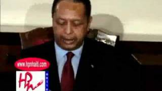 Jean-Claude Duvalier Press Conference since returning in Haiti