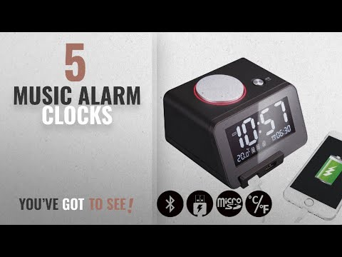 Top 10 Music Alarm Clocks [2018 ]: Homtime C1-PRO Music Alarm Clock with Bluetooth Speaker, Dual USB