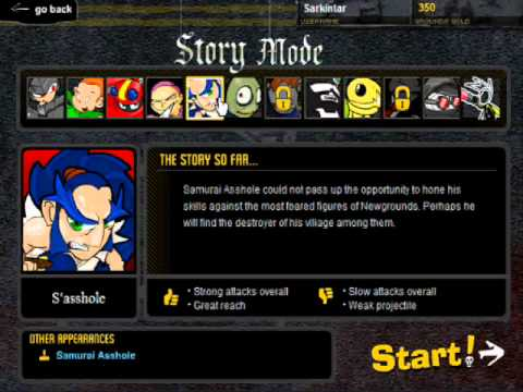 Let's Play Newgrounds Rumble (1) Introduction