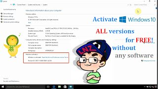 Activate Windows 10 ALL versions for FREE without any software ✔