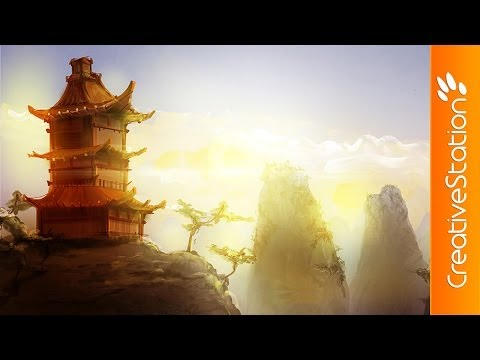Homeland of Samurai - Speed Painting (#Sketchbook Pro) | CreativeStation