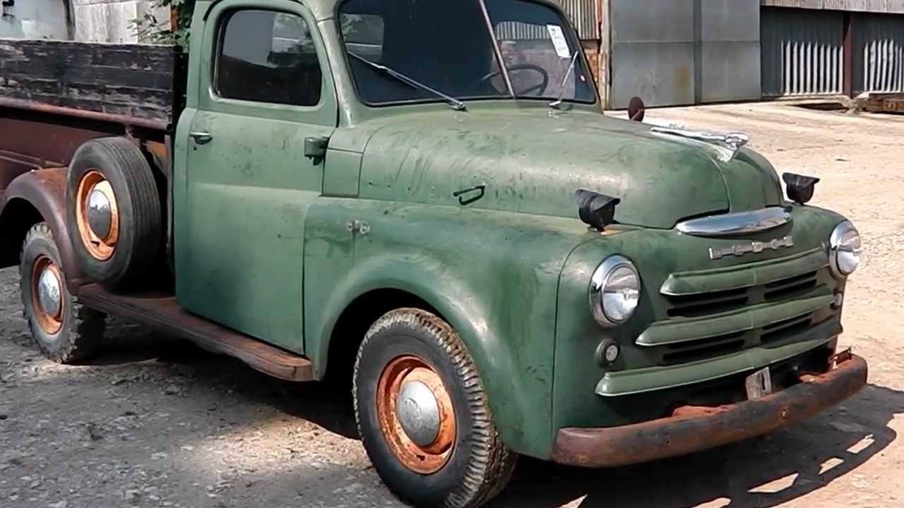 1950s Ford Trucks For Sale >> 1950 DODGE B2C PICKUP TRUCK 3/4 TON ORIGINAL FOR RESTORATION - YouTube