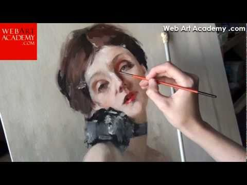 How to oil painting and drawing video lessons. Fine art tutorials online