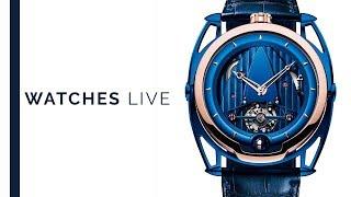 Grail Watches: De Bethune Show: DB28 Tourbillon, DB21 Maxichrono, DB 28 GS Grand Bleu Dive Watch