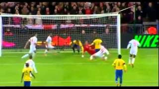 Ronaldinho Penalty miss - Joe Hart Double Save - England vs Brazil