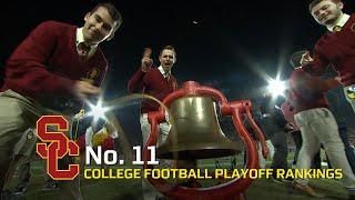 USC football stays at No. 11 in week 13 of CFP rankings