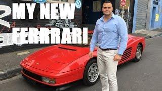 My New Rare Ferrari Testarossa Supercar Purchase