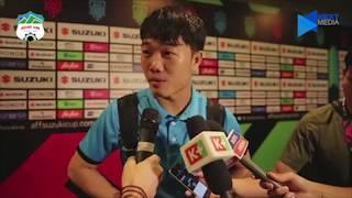 Xuân Trường ''bắn'' Tiếng Anh như gió trước câu hỏi của nhà báo Châu Á | HAGL Media