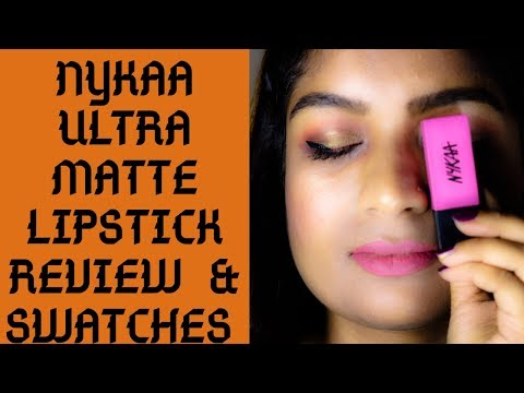 NYKAA Ultra Matte Lipstick Review & Swatches| New Launch|