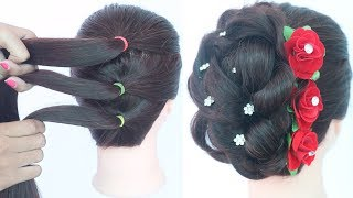 easy messy updo with trick || hairstyles for girls || new hairstyle || bridal hairstyle || hairstyle