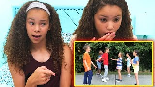 "Sierra & Olivia REACT to ""Dance Dance Dance Battle"" by JoJo Johnson"