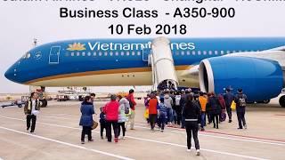 Vietnam Airlines VN523 - Shanghai - HCMC - A350-900 - Business Class