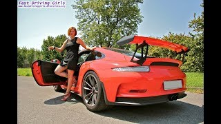 Fast Driving Girls - Hélena driving Porsche 911 GT3-RS 991 in heels (V066)