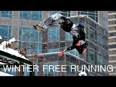 Winter Free Running - Ice Parkour - Ronnie Shalvis